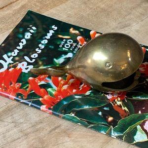 Vintage brass Whale cigarette Hawaii ashtray